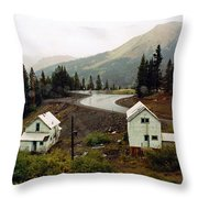 550 In The Rain Throw Pillow