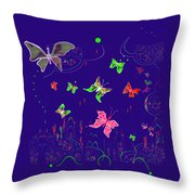 558   Butterflies  V Throw Pillow