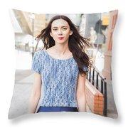 Fashion Shoot Throw Pillow
