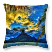 Landscape Nature Scene Throw Pillow