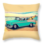 56 Nomad By The Sea In The Morning With Vivachas Throw Pillow