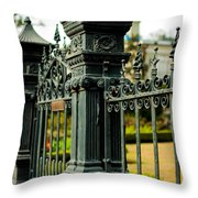 5603 St. Charles Ave Fence- Nola Throw Pillow