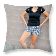 Sexy Female Beauty. Throw Pillow