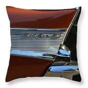 57 Chevy Fin Throw Pillow