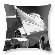 57 Chevy Horizontal Throw Pillow