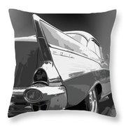 57 Chevy Horizontal Throw Pillow