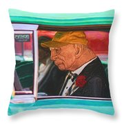 57 Chevy Man Throw Pillow