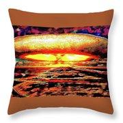 57 Megatons Throw Pillow