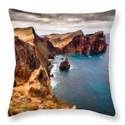 Oil Painting Landscapes Throw Pillow