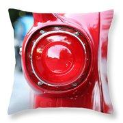 '57 Tail Light Throw Pillow