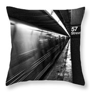 57th Street Platform Throw Pillow by Barry C Donovan