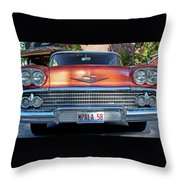 '58 Chevy Comin' Atcha Throw Pillow
