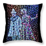 The Pain Of A Clown Throw Pillow