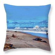 58- Sapphire Surf Throw Pillow