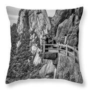 5807- Yellow Mountains Black And White Throw Pillow