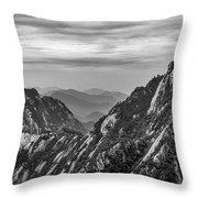 5818- Yellow Mountains Black And White Throw Pillow