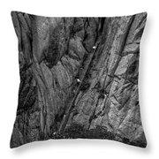 5840- Yellow Mountains Black And White Throw Pillow