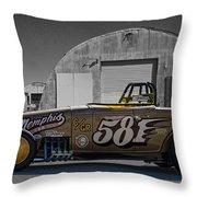 581 Bonneville Race Car Throw Pillow