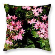 Love Flowers Throw Pillow
