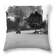 59th Street By Central Park Throw Pillow