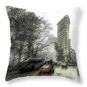 5th Avenue Odyssey  Throw Pillow
