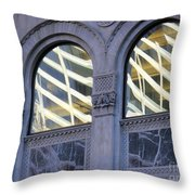 5th Avenue Reflections Throw Pillow by Rick Locke