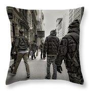 5th Avenue Walk Throw Pillow