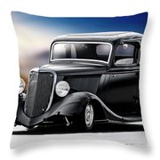 1934 Ford Five-window Coupe Throw Pillow
