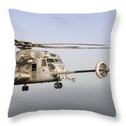 A U.s. Marine Corps Ch-53e Super Throw Pillow