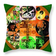 Abstract Painting - Lincoln Green Throw Pillow