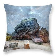 Agglestone Rock - England Throw Pillow