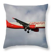 Air Berlin Airbus A320-214 Throw Pillow