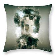 Air Raid Siren Throw Pillow