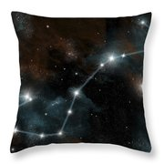 Artists Depiction Of The Constellation Throw Pillow