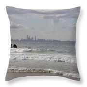 Australia - Coolangatta Beach Throw Pillow