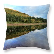Autumn Derwent Reservoir Derbyshire Peak District Throw Pillow