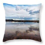 Back Beach - Lyme Regis Throw Pillow