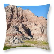 Badlands National Park South Dakota Throw Pillow