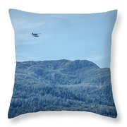 Beautiful Landscapes Around Ketchikan And Tongass Forest In Alas Throw Pillow