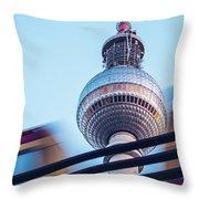 Berlin Tv Tower Throw Pillow