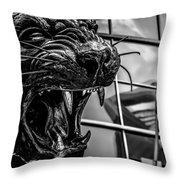 Black Panther Statue Throw Pillow