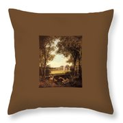 Boddington Henry John A View Of Norton Hall Henry John Boddington Throw Pillow