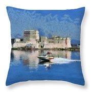 Bourtzi Fortress Throw Pillow