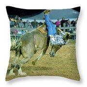 Bronco Riding Throw Pillow