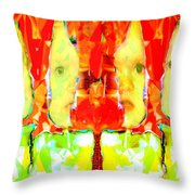 6 Candles Of Christmas Throw Pillow