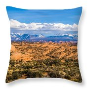 Canyon Badlands And Colorado Rockies Lanadscape Throw Pillow