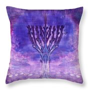 Chanukkah Lights Throw Pillow