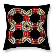 6 Concentric Rings X 4 Throw Pillow