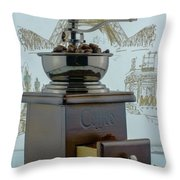 Daily Grind Coffee Throw Pillow