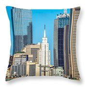 Dallas Texas City Skyline At Daytime Throw Pillow